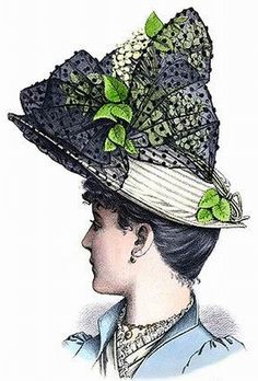 Victorian Hats, Victorian Fashion, Vintage Fashion, Vintage Hat Boxes, Vintage Hats, Historical Fiction Authors, 1890s Fashion, Gibson Girl, Fashion Plates