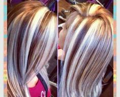 VERY chunky blonde highlights!!