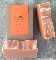 Mimosa Mimosa is a handmade soap crafted from all natural ingredients. Scented with blood orange essential oil and made with champagne.
