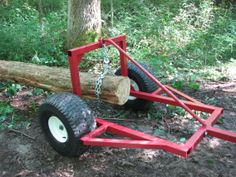 ATV log skidder