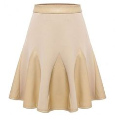 Fashion Women's Basic Versatile Flared Skirt