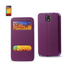 Reiko Samsung Galaxy Note 3 Window Flip Folio Case In Purple   Tag a friend who would love this!   FREE Shipping Worldwide   Get it here ---> https://www.spotrus.com/product/reiko-samsung-galaxy-note-3-window-flip-folio-case-in-purple/