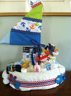 Nautical by Nature: Nautical Baby Shower This would be cute for my sister's baby shower