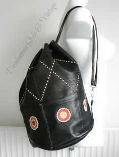 Vintage Moroccan leather backpack