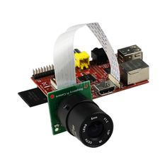 Raspberry Pi Camera Board /w CS mount Lens fully compatible with official module-in Other Electronic Components from Electronic Components &...