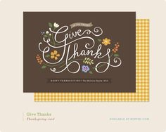 Give Thanks - lovely work