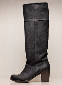 black heeled boots...ooh..or these