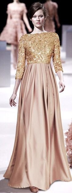 Christmas style , long dress , long skirt , glamour , elegant , beige , glitter , sateen