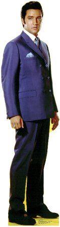 Elvis in a purple suit