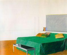 David Hockney, Bedroom, 1966 pencil and colored crayon on paper, 14 x 17 in. David Hockney Art, David Hockney Paintings, Edward Hopper, Cultura Pop, Land Art, Pop Art Movement, Robert Rauschenberg, Paintings I Love, Illustration Art
