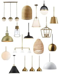 Beautiful modern lighting ideas for every decorating style and budget #homedecorideas #coastalstyle Kitchen Ceiling Lights, Kitchen Island Lighting, Kitchen Lighting Fixtures, Kitchen Pendant Lighting, Kitchen Pendants, Pendant Light Fixtures, Ceiling Light Fixtures, Ceiling Lighting, Kitchen Islands