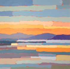 Paul Norwood - Bay Sunrise Collage Landscape, Landscape Paintings, Landscapes, Painting Inspiration, Art Inspo, A Level Art, Art And Architecture, Painting & Drawing, Collages