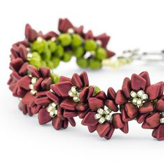 Poinsettia Row Bracelet | Fusion Beads Inspiration Gallery - Free project