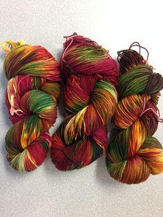University Drive 2 ply sock yarn October 2014 Autumn Glory