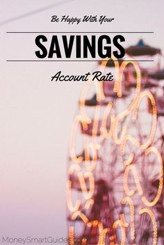 I hear many people complain about low their savings account rate is these days. I say be happy with the savings account rate. The point of an emergency fund is so that you have money in an emergency.  - Money Smart Guides http://www.moneysmartguides.com/be-happy-with-your-savings-account-rate