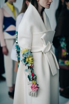 3D surface pattern - ideas for further development Le 21ème | Backstage at Delpozo, Fall/Winter 2016/2017 | New York City