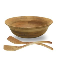 Dinner party details are just as important as the menu (sometimes).  This cherry wood bowl is the perfect vessel for a colorful salad or snack. @lowes