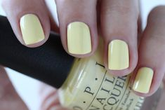 OPI Giveaway - OPI Retro Summer Collection Nail Towel Me About It Light Yellow Cream Nail Polish