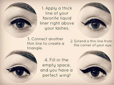 How to Apply Eyeliner - Step by Step Tutorial..Eyeliner Tutorial ..How To Apply Eyeliner Perfectly - Step by Step Tutorial and Tips..How to Apply Liquid Eyeliner..How to Apply Eyeliner Perfectly By Yourself: Step by Step Tutorial..How to Apply Liquid Eyeliner - Winged Eyeliner Tutorial..ideas about Eyeliner Tutorial on Pinterest #PerfectEyeliner