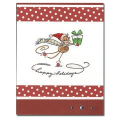 Christmas card, cute! Stamp, coloring, washi?
