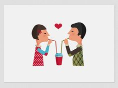 Illustration Coffee Lovers by Tutticonfetti on Etsy, $15.00