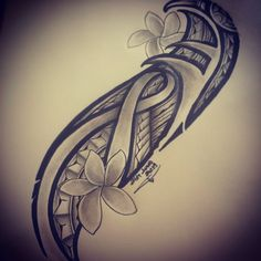 Another piece designed ready to be tattooed. In honor of breast cancer awareness month. 4x4 tattoos with ribbon theme will be charged at a flat rate of $120. If you have some ideas want drawn out... Tribal Flower Tattoos, Tribal Tattoos For Women, Flower Tattoo Foot, Tribal Sleeve Tattoos, Tattoos Skull, Body Art Tattoos, Tattoos For Guys, Random Tattoos, Butterfly Tattoos