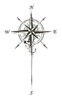 Bildergebnis für tattoo compass