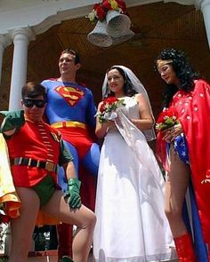 THIS is your wedding, isn't it? Exchanging Batman for Superman of course! Crazy Wedding, Geek Wedding, Wedding Humor, Wedding Pics, Wedding Themes, Wedding Ceremony, Dream Wedding, Wedding Dresses, Wedding Ideas