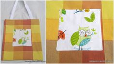 bag-tote-yellow-check-owl
