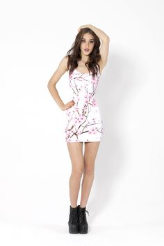 Cherry Blossom White Dress from Black Milk Clothing...   No longer being made  ; ; I'd love to buy that...