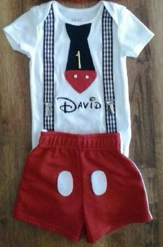 Mickey Mouse inspired Outfit Mickey Mouse by LPieCreations on Etsy, $29.00