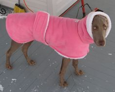 NEW Fabrics....Warmwags Medium or Large Fleece and Sherpa Custom Dog Coat-- ask about matching snood. $44.00, via Etsy.