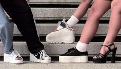 I used to have sneaker wedges and platform sneakers. Soooo ugly now but back then I was so proud of those ugly shoes. lol