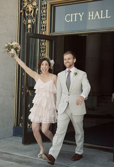 Courthouse Wedding  *Well it is fast, cheaper, more $ for reception/party ~S