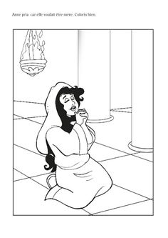 Hannah Prayed for a Baby Coloring Page God Answered Hannahs