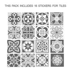 Tegel Stickers  Tegels Stickers  Grey Scale  Tegels voor