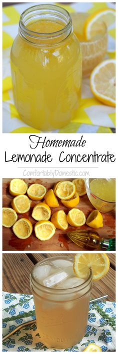 Homemade Lemonade Concentrate - Comfortably Domestic