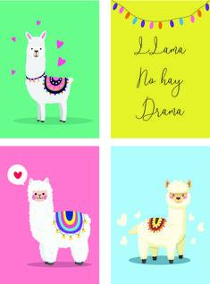 Alpacas, No Drama Lama, Llama Drawing, Llama Clipart, Baby Llama, Llama Birthday, Llama Alpaca, Doodle Coloring, Cute Creatures