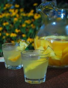Perfect for sipping with friends is Pineapple/White Pear Sparkling Sangria with a Punch or Non-alcoholic. Serve icy cold and set back and have a good time. . . you're gonna like this one!