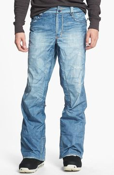 Burton 'The Jeans' Snowboard Pants | for the sporty guy | mens snowboard pants | athletic | sports | snowboarding | menswear | mens fashion | mens style | wantering http://www.wantering.com/mens-clothing-item/burton-the-jeans-snowboard-pants/afBuj/