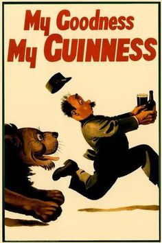 My Goodness, My Guinness Beer Ad ad Giclee Art Print with Mounted Canvas options and Wood Signs available.  **Please note: additional images are shown as an example of the mounted canvas. The first image shown is the actual item you are purchas...