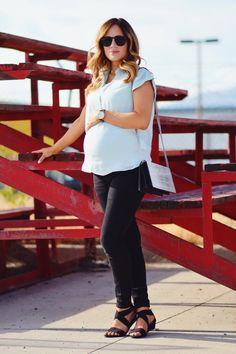 Maternity Chic- Loving this non maternity top from #Gap @Gap #tgif