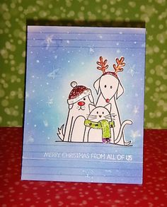 HandmadebyRenuka: CHRISTMAS CARD WITH DISTRESS INKS