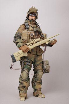 1 6 Hot Toys USMC Sniper 23rd Marine Regiment Custom   eBay