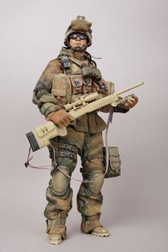 1 6 Hot Toys USMC Sniper 23rd Marine Regiment Custom | eBay