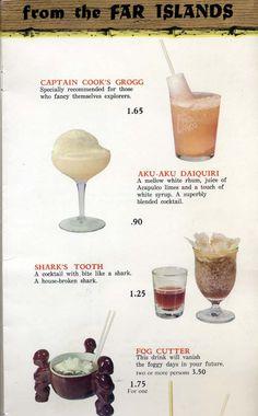 Another page of original drinks from the old Vegas Aku-Aku Tiki Lounge