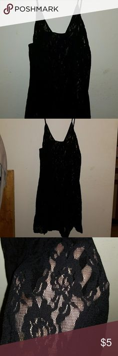 Black Lacey BabyDoll Lingerie A One Size Black Lace BabyDoll from Leg Avenue. Amazing condition. Worn once. Leg Avenue Intimates & Sleepwear Panties