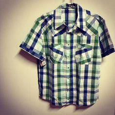 Camisa Masculina Quadriculado Esverdeado R$75.00