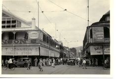 Frederick Street, Port-of-Spain. The Salvatory building is on the right.