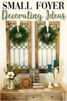 DIY Foyer Decorating Ideas For Small Foyers and Apartment Entryways - Clever DIY Ideas - Small Foyer or entryway hall decor idea The Effective Pictures We Offer You About cute home decor - Farmhouse Wall Decor, Country Decor, Rustic Decor, Farmhouse Style, Farmhouse Ideas, Farmhouse Kitchens, Rustic Kitchen, Vintage Decor, Farmhouse Windows